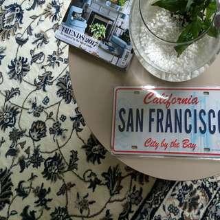 San Francisco Metal Plate