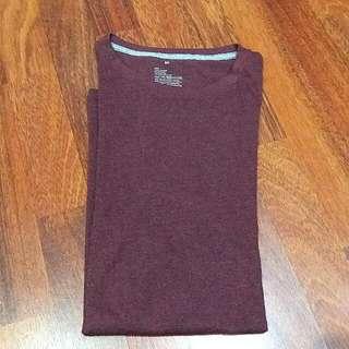 t shirt kaos pria polos maroon