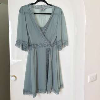 ASOS Lace Wrap Dress Size:10