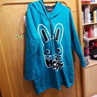 兔兔連身拉鍊長t/外套