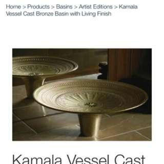 Beautiful Kamala Vessel Cast Bronze Basin by Kohler RRP $8,099