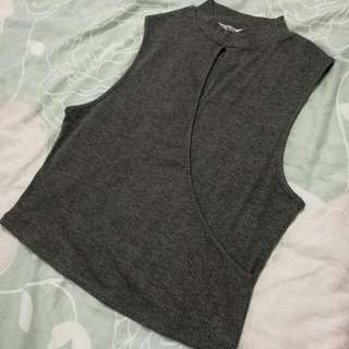 Cotton On Grey Sleeveless Crop Top