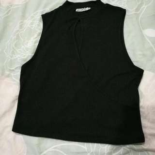 Cotton On Black Sleeveless Crop Top