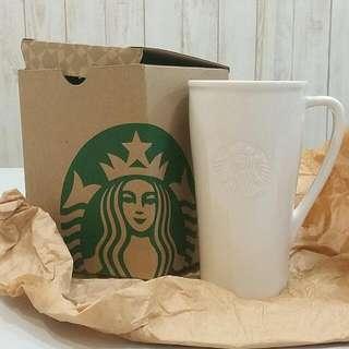 New Starbucks White Ceramic Cup
