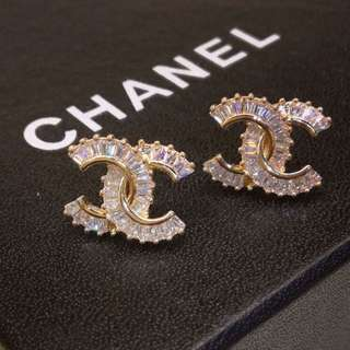 Chanel CC Studded Earrings