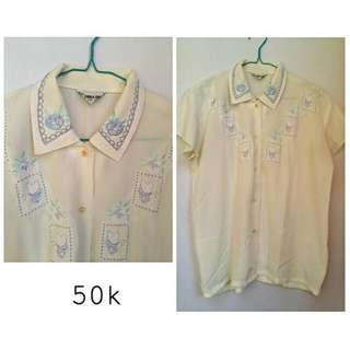 Blouse vintage with bordir