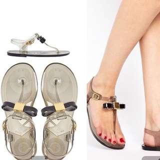 Ted Baker Deynaa Black Bow Toe Sandal