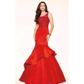 Red Prom Dress-Mermaid