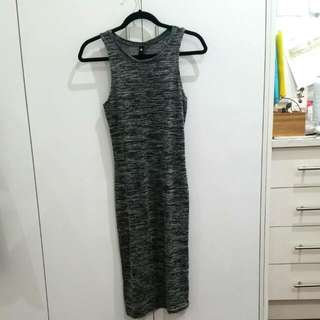Grey Jersey Bodycon Midi Dress