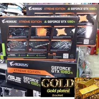 GIGABYTE GTX 1080 Ti AORUS GeForce® Xtreme Edition 11G. GPU Boost Clock : 1746 MHz. ( AORUS Xtreme Highest Boost OC 1746Mhz then ASUS Strix 1080Ti 1708Mhz & MSI 1080Ti Gaming X 1683Mhz & Save nearly $200 more) Ex-Stock item..Hurry while Stock Last.