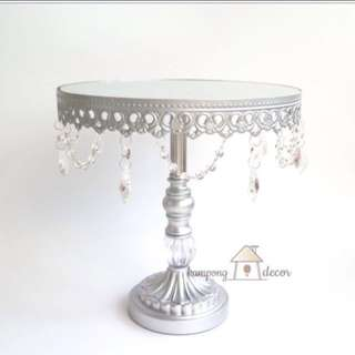 [PROMOTION] SILVER LACE CAKE STAND