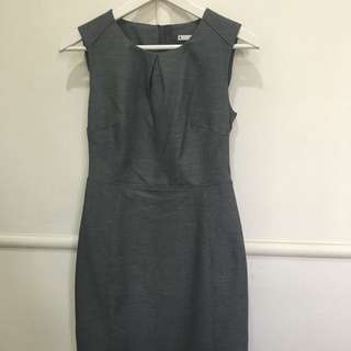 Grey Target Work Dress