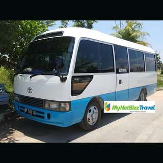 Batam 24 Seater Coaster/Mini Bus Transport Rental With Driver