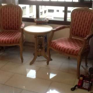 Rare, Hibiscus Table And Chairs Set