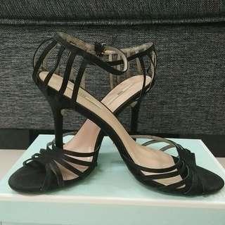 2 Tone Heel Sandal (Black)