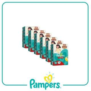 PAMPERS  BABY DRY PANTS DIAPER DOUBLE XL And Extra Large XL 14's PACK OF 6