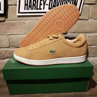 Lacoste Suede Tan Leather Shoes Sneakers