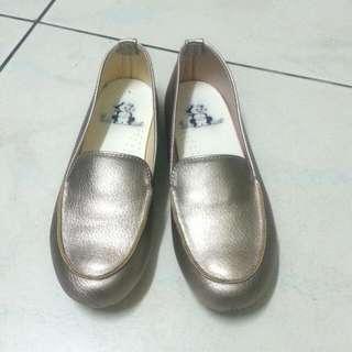 金色平底鞋  #五百元好女鞋