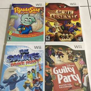 Wii Original Games $10