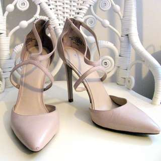 Nine West Tan Leather Strappy Shoes Size 8 1/2
