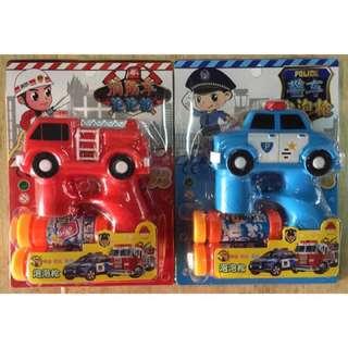 警車消防車燈光音樂泡泡機