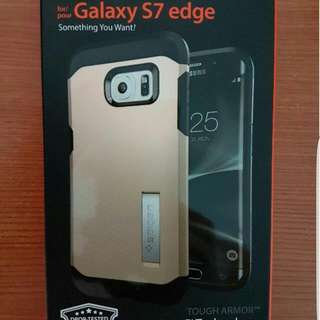 Spigen Tough Armor Champagne Gold (with Kickstand Function) Case Cover For Samsung Galaxy S7 Edge
