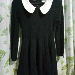Repriced black korean dress