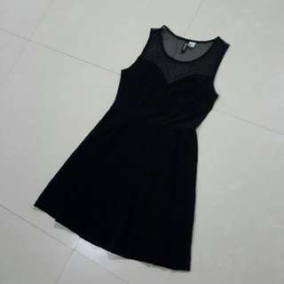 H&M Heartshape Mesh Dress