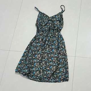 Floral Korean Dress