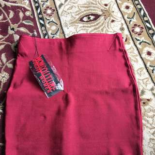 Mini Red Bandage Skirt