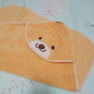Cotex 微笑貝爾熊浴包巾