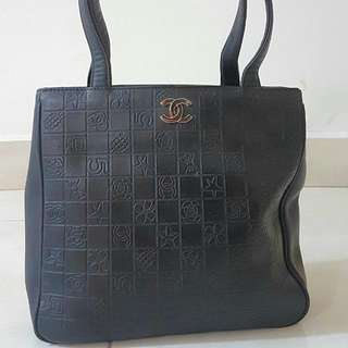 Chanel Embossed Lucky Symbol Charm Tote Bag
