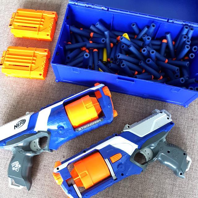 2 Nerf Guns + Box Of Nerfs