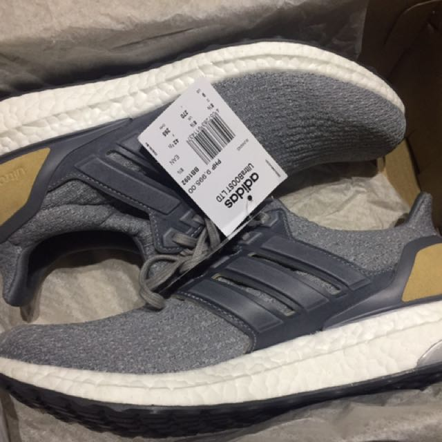9919bedc0e318 Adidas Ultra Boost 3.0 Grey Leather Cage LTD (BB1092) on Carousell