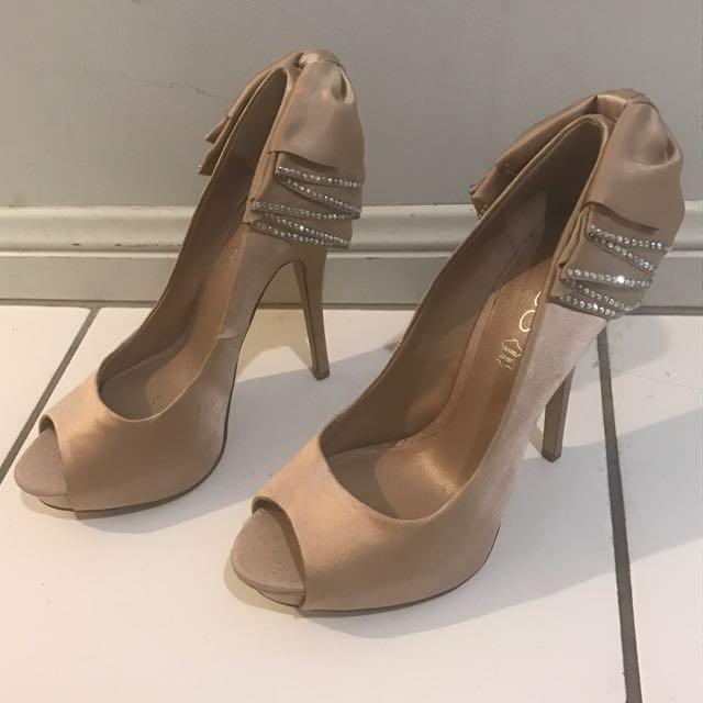 Aldo Satin Bow Heels