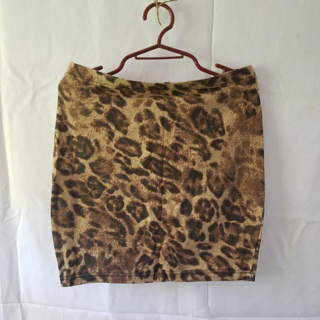 Animal Print Bodycon Skirt
