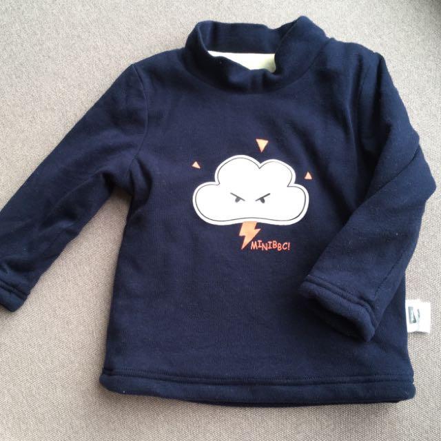 Baby Winter Top (navy cloud)