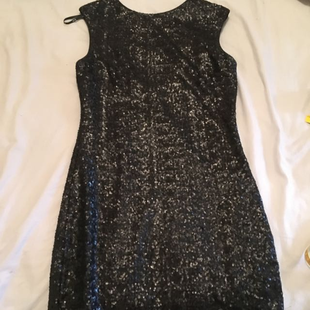Bardot Black Sequin Dress
