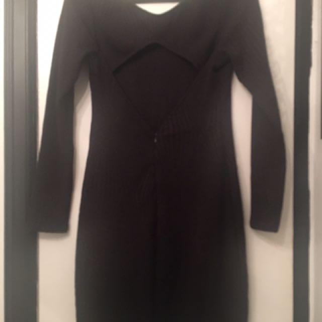 Black 3/4 Length Dress