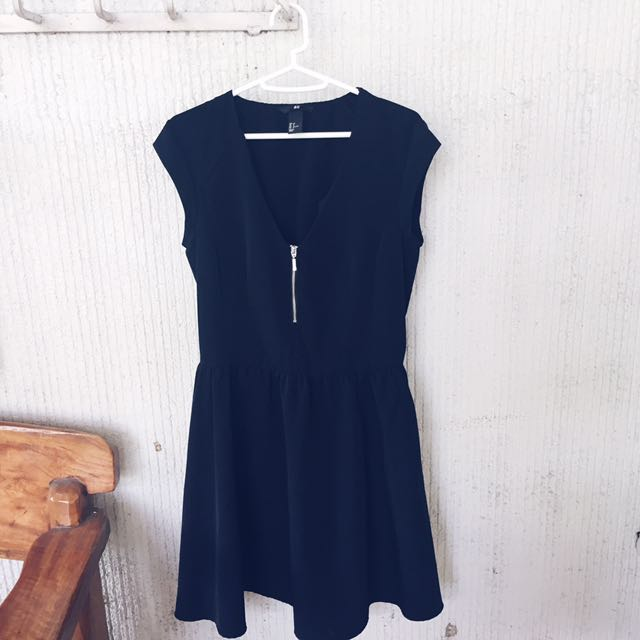 Black H&M V-Neck Dress