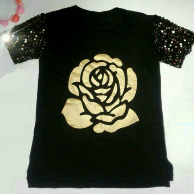 Black With Sequence Top