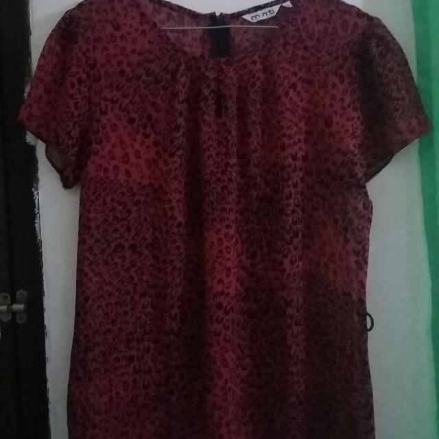 Blouse Leopard Red