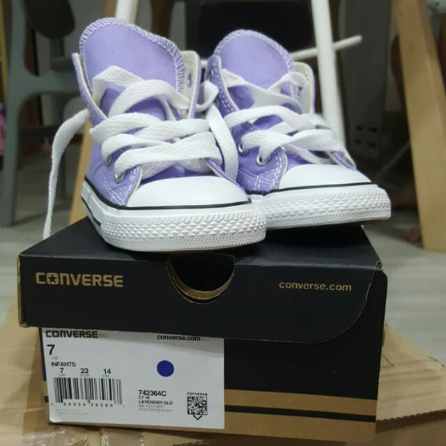 6b26929c4145 REDUCED PRICE- BNIB Converse High-cut Shoes For Kids (Lavender) - US ...
