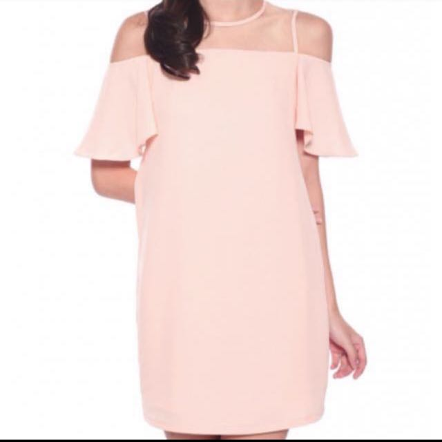 00fe5d8c98f BNWT Love Bonito Peach Cold-Shoulder Dress