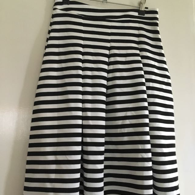 Boohoo Striped High-waisted Skirt