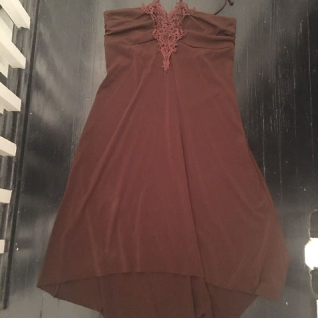 Brown Halter Top Dress