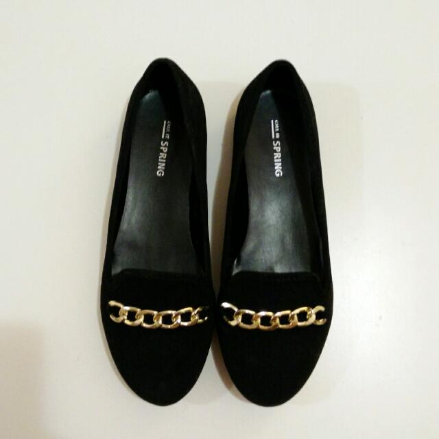 Call It Spring Black Flats