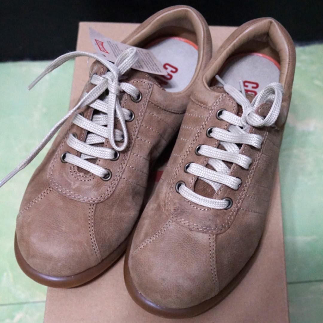 camper 27205土灰經典六線休閒鞋 重量版 豆豆鞋