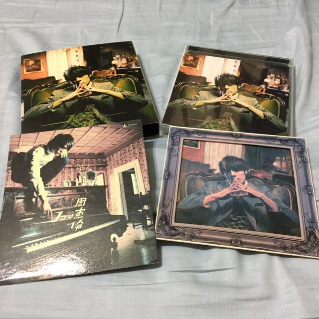 周杰倫cd/葉惠美 預購版 cd+vcd (2003年發行,附油畫預購禮)商品整體約8.5成新