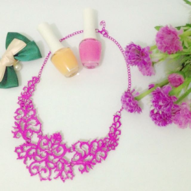 coral Pink Necklace